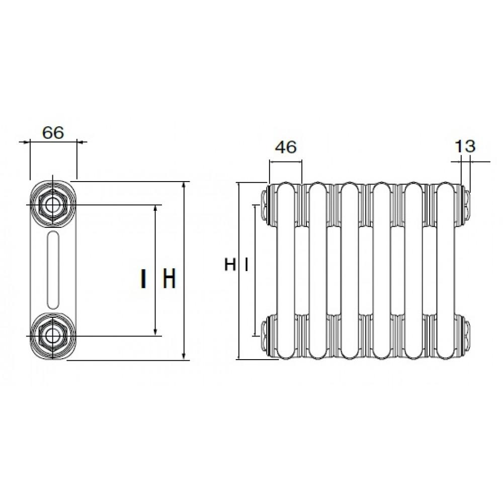 Стальной трубчатый радиатор DeLonghi MultiColonna 2057