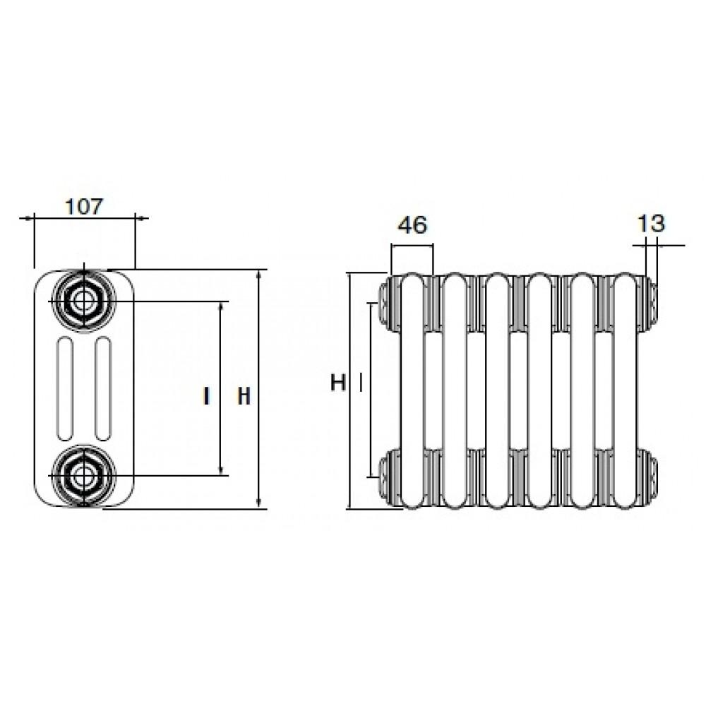 Стальной трубчатый радиатор DeLonghi MultiColonna 3150