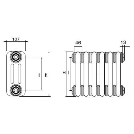 Стальной трубчатый радиатор DeLonghi MultiColonna 3057
