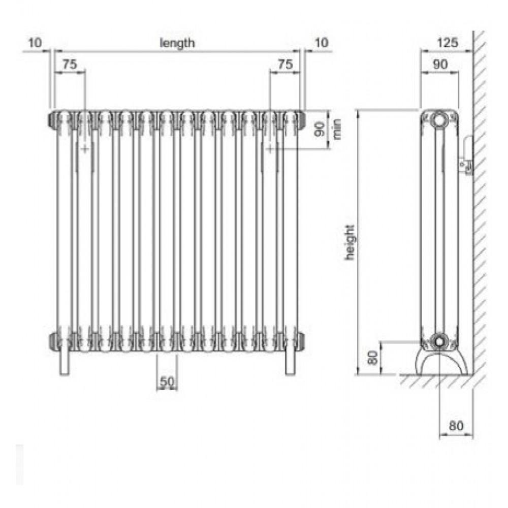 Алюминиевый дизайн-радиатор Fondital Mood 535
