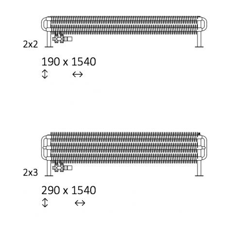Дизайн-радиатор Terma Ribbon HSD
