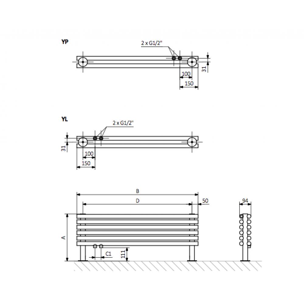 Дизайн-радиатор Terma Tune HSD