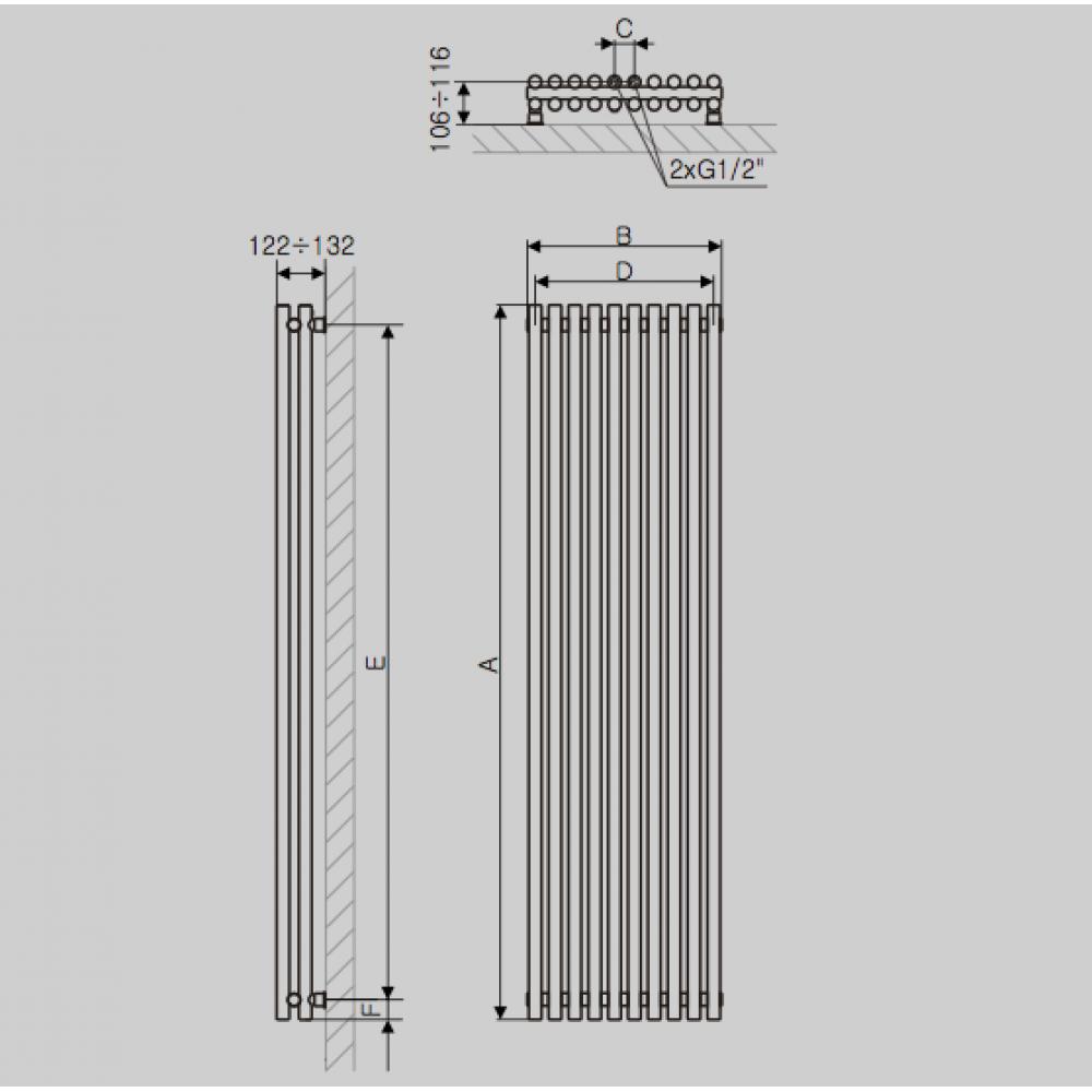 Дизайн-радиатор Terma Tune Vertical