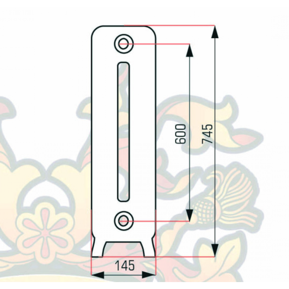 Чугунный радиатор RETROstyle Leeds