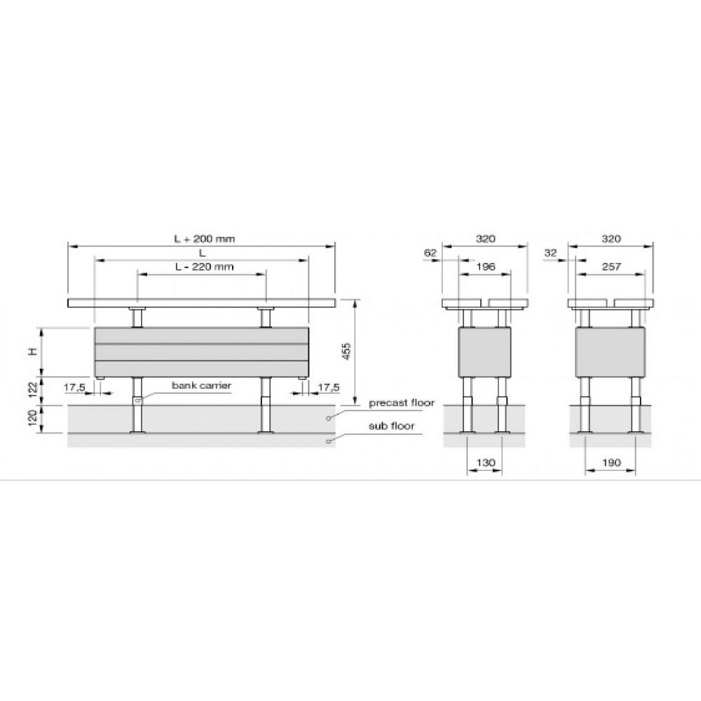 Радиатор-скамейка Zehnder Bank-Radiavector